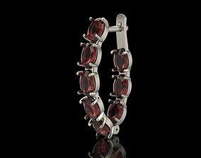 Earrings with gems 3D print model
