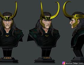 Tom Hiddleston - LOKI Bust 2 Head - 3D print model 2