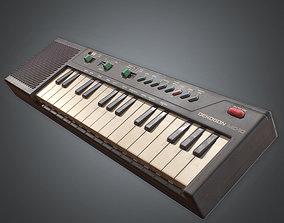 3D asset Electric Keyboard Instrument 80s