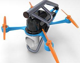 Drone city scanner 3d print model