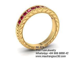 824 Luxury Diamond Ring 3D print model