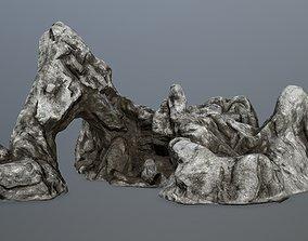 desert rock gate 3D asset VR / AR ready