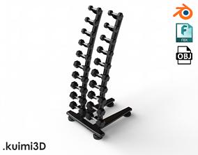 Gym Dumbell Set 004 3D