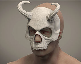 3D print model Halloween Skull Masquerade Daemon mask