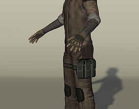 3D model Gamedev character with a handgun