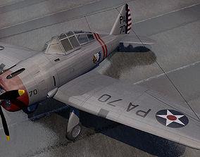 wwii 3D model Seversky P-35