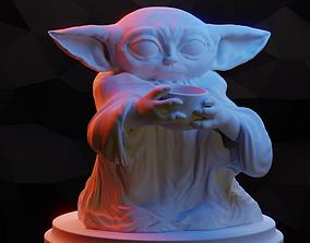 sculpture 3D print model Baby Yoda