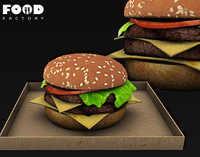 Double cheeseburger 3D model