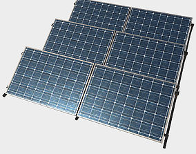 Low Poly PBR Solar Panels 3D model