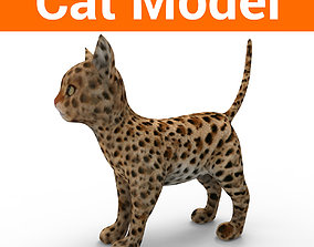 game-ready 3d Pet Cat low poly game ready