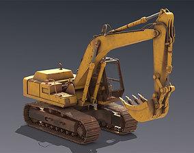 3D asset Excavator Hitachi FH200
