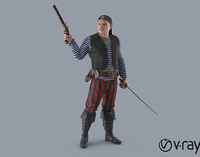 Pirate Rigged 3D model