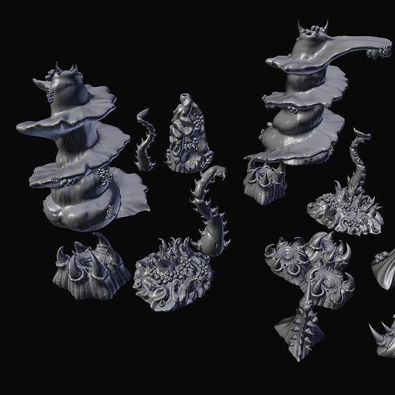 Tyranid Hive Fleet Printable Terrain