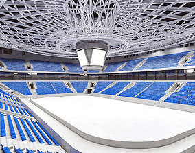 Winter Olympic Stadium 13000 seats 3D asset