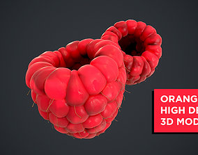 Raspberry high detail 3D