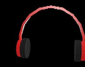 Headphones voxel 3D model