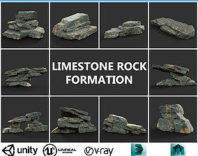 Low poly Big Rock Formation Pack 200928 - 3D asset