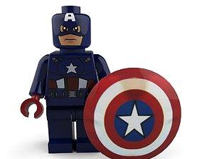 Captain America Lego 3D