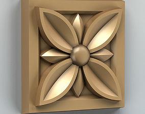 Square rosette 002 3D