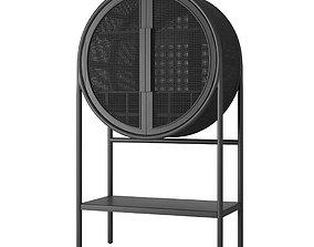 Crate and Barrel West Charcoal Cane Bar 3D model