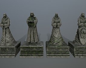 3D model statue full set