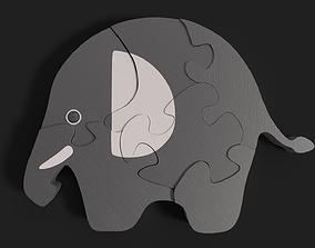 3D model Elephant puzzle