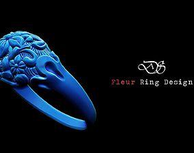 3D printable model Fleur Dome Zbrush ring