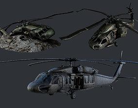 Sikorsky UH60 Black Hawk Military Helicopter 3D model 4