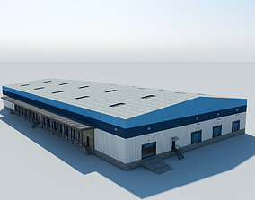 Warehouse Logistic Building 2 LOW POLY interior 3D model 1