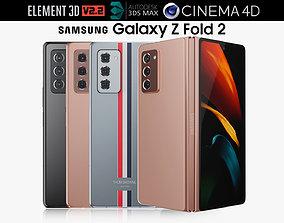 3D model Samsung Galaxy Z Fold 2 all colors