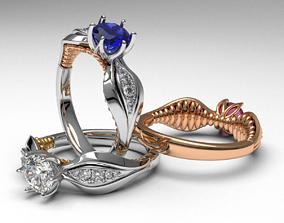 luxury unique design diamond engagement ring 3d 1