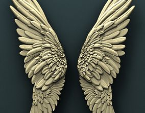 Wings 3d stl model for cnc