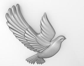 Dove base relief 3D printable model