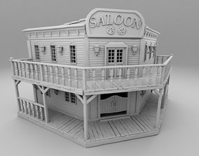 3D print model Wild west large saloon