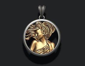 Horoscope Virgo pendant 3D print model necklace