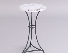 3D model Marble top table - Tall