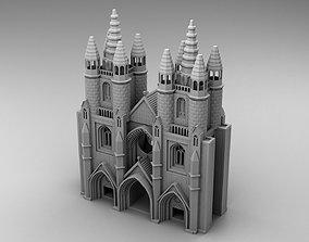 Gothic style castle 3D print model