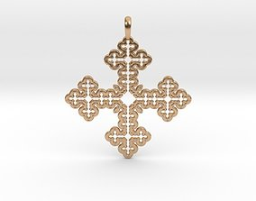 pendants Koch Cross 3D printable model