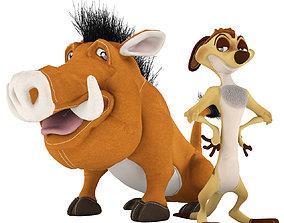 Toys Set 001 - Timon and Pumbaa 3D