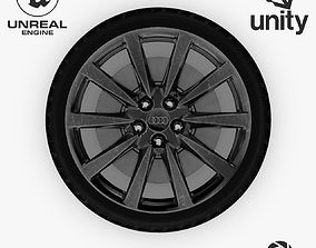 3D model Wheel Steel-Chrome Dark Alloy Rim Audi 4