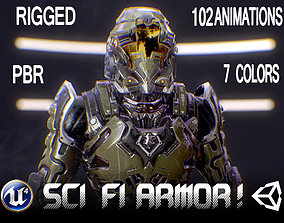 3D asset Sci-Fi Armor 1