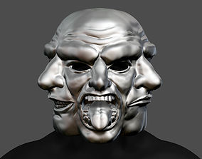 3D printable model Payday 2 Horror Mask Greek Tragedy 3
