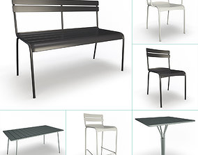 Luxembourg Metallic Outdoor Furniture Fermob 3D model