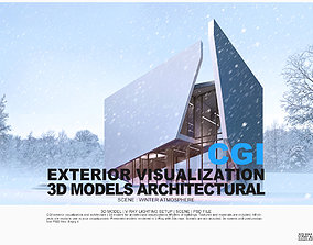 3D model CGI Architectural l Exterior lighting setup l 1