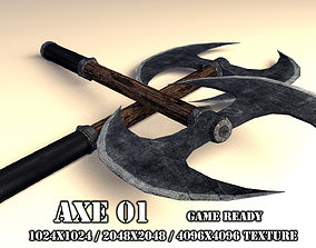 Two Handed Axe 01 3D model