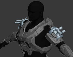 Reach Jumpjet Shoulder Wearable 3D Print Model