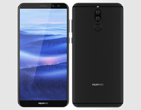 3D model Huawei Mate 10 Lite Blue
