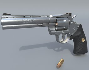 3D Colt Python 357 - Revolver gun