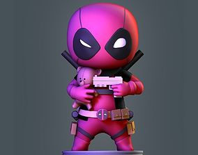 Deadpool Chibi 3D printable model fanart