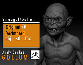 3D printable model Gollum - Andy Serkis - Lord Of The